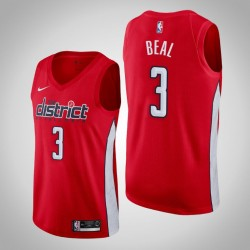 Männer NBA 2018-19 Bradley Beal Washington Wizards & 3 verdient Ausgabe Red Swingman Jersey