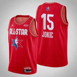 Denver Nuggets Nikola Jokic & 15 2020 NBA All-Star Game Reserves Red Jersey