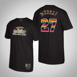 Denver Nuggets Jamal Murray & 27 Holz Classics Mitchell & Ness Heimatstadt-T-Shirt - Schwarz