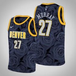 Männer Denver Nuggets Jamal Murray & 27 Black Rose National Flower Jersey - Nike
