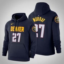 Denver Nuggets & 27 Jamal Murray Icon Navy 2020 Saison PulloverHoodie