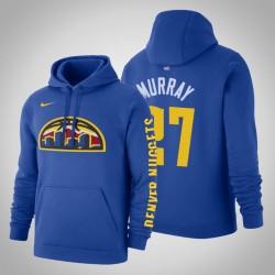 Denver Nuggets und 27 Jamal Murray Statement Blau 2020 Jahreszeit PulloverHoodie