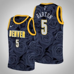 Männer Denver Nuggets Will Barton & 5 Black Rose National Flower Jersey - Nike