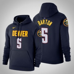 Denver Nuggets & 5 Will Barton Icon Navy 2020 Saison PulloverHoodie