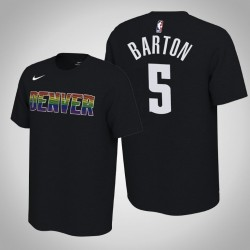 Denver Nuggets & 5 Will Barton verdient Schwarz 2020 Saison Name & Nummer T-Shirt