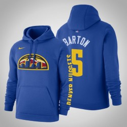 Denver Nuggets & 5 Will Barton Statement Blau 2020 Jahreszeit PulloverHoodie
