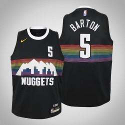 Jugend Will Barton Nuggets & 5 Stadt Schwarz 2020 Jahreszeit Jersey