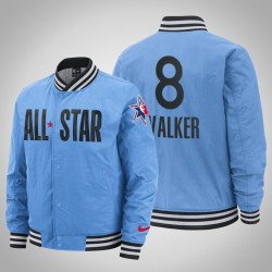 Herren Kemba Walker Celtics & 8 Blue 2020 NBA All-Star Game Eastern Conference Spielfeldrand in voller Schnapp Jacke