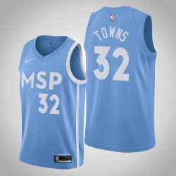 2019-20 Timber Karl-Anthony Towns & 32 Blue City Jersey