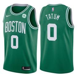 2017-18 Saison Jayson Tatum Boston Celtics & 0 Icon GE Grün Jersey