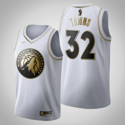 Minnesota Timberwolves Karl-Anthony Towns & 32 Golden Edition Weiß Jersey