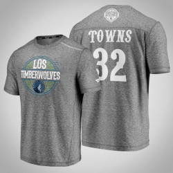 Timber Karl-Anthony Towns & 32 Latino Heritage Nacht Clutch Shooting meliertes Grau-T-Shirt