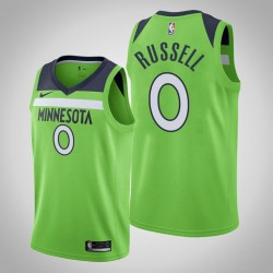 2019-20 Timber D'Angelo Russell & 0 Grüne Statement Jersey
