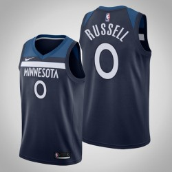 2019-20 Timber D'Angelo Russell & 0 Navy Icon Jersey