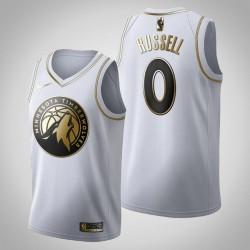 Minnesota Timberwolves D'Angelo Russell & 0 Golden Edition Weiß Jersey