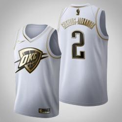 Oklahoma City Thunder Shai Gilgeous-Alexander & 2 Golden Edition Weiß Jersey