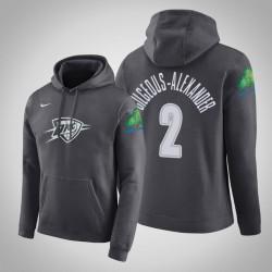 Oklahoma City Thunder & 2 Shai Gilgeous-Alexander City Anthrazit 2020 Saison PulloverHoodie