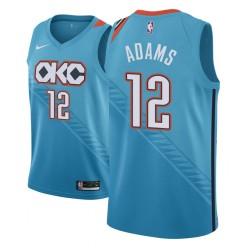 Männer NBA 2018-19 Steven Adams Oklahoma City Thunder # 12 Stadt Ausgabe Turquoise Trikot