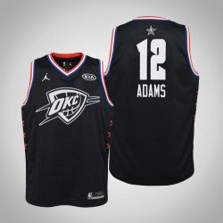 2019 NBA All-Star Jugend Oklahoma City Thunder Steven Adams # 12 Schwarz Swingman Trikot