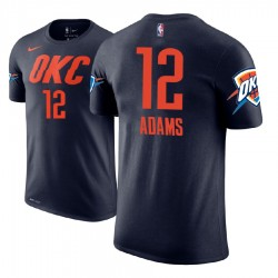 Männer Steven Adams Oklahoma City Thunder # 12 Statement Navy Name # Nummer Spieler T-Shirt