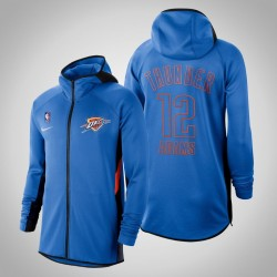 Herren Steven Adams Donner # 12 Blue 2020 Saison Therma Flex Showtime Hoodie