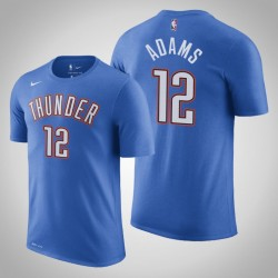 Oklahoma City Thunder # 12 Steven Adams Icon Blau 2020 Saison Name # Nummer T-Shirt