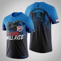 Männer Oklahoma City Thunder Steven Adams # 12 Blue Marvel Wakanda für immer T-Shirt