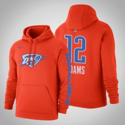 Oklahoma City Thunder und 12 Steven Adams Statement orange 2020 Saison PulloverHoodie