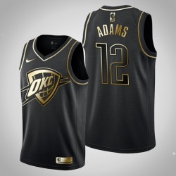 Oklahoma City Thunder Steven Adams # 12 Schwarz Trikot - Golden Edition