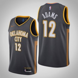 2019-20 Donner Steven Adams # 12 Charcoal City Trikot