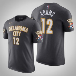 Oklahoma City Thunder # 12 Steven Adams Stadt Anthrazit 2020 Saison Name # Nummer T-Shirt