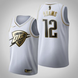 Oklahoma City Thunder Steven Adams # 12 Golden Edition Weiß Trikot