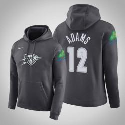 Oklahoma City Thunder # 12 Steven Adams Stadt Anthrazit 2020 Saison PulloverHoodie