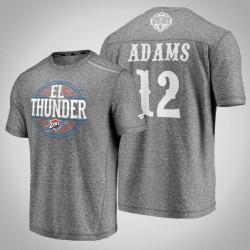 Donner Steven Adams & 12 Latino Heritage Nacht Clutch Schießen melierter-Grau-T-Shirt