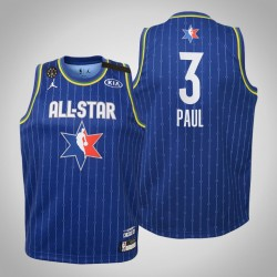 Jugend Oklahoma City Thunder Chris Paul # 3 Blau 2020 NBA All-Star Game Trikot