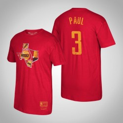 Houston Rockets Chris Paul # 3 Holz Classics Mitchell # Ness Heimatstadt-T-Shirt - Rot