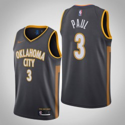 2019-20 Donner Chris Paul # 3 Charcoal City Trikot