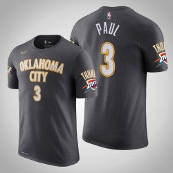 Oklahoma City Thunder # 3 Chris Paul Stadt Anthrazit 2020 Saison Name # Nummer T-Shirt