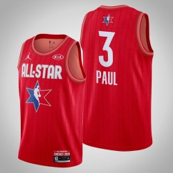 Oklahoma City Thunder Chris Paul # 3 2020 NBA All-Star Game Reserves Red Trikot