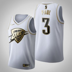 Oklahoma City Thunder Chris Paul # 3 Golden Edition Weiß Trikot