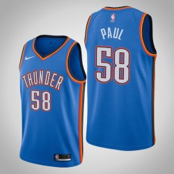 2019-20 Donner Chris Paul # 58 Icon Trikot Blau