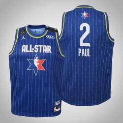 Jugendteam LeBron Chris Paul # 2 Donner Blau 2020 NBA All-Star Game Trikot