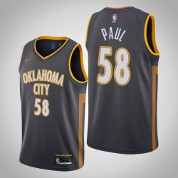 2019-20 Donner Chris Paul # 58 City Trikot Charcoal
