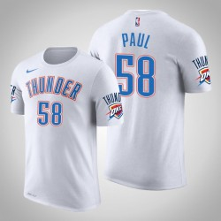 Donner # 58 Chris Paul Verband Weiß 2020 Saison Name # Nummer T-Shirt