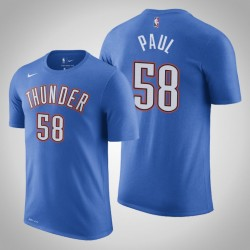 Donner # 58 Chris Paul Icon Blau 2020 Saison Name # Nummer T-Shirt