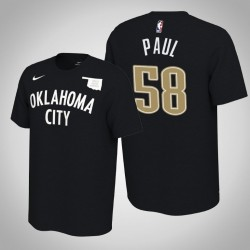 Donner # 58 Chris Paul verdient Schwarz 2020 Saison Name # Nummer T-Shirt