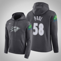 Donner # 58 Chris Paul Stadt Anthrazit 2020 Saison PulloverHoodie
