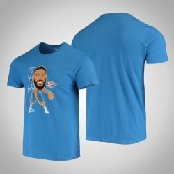 Donner Chris Paul & 3 Spieler-Grafik Bobblehead meliert Blue T-Shirt