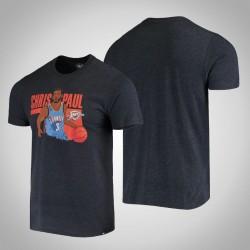 Donner Chris Paul & 3 Spieler-Grafik, melierte Marine-T-Shirt