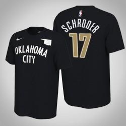 Oklahoma City Thunder & 17 Dennis Schröder verdient Schwarz 2020 Saison Name & Nummer T-Shirt
